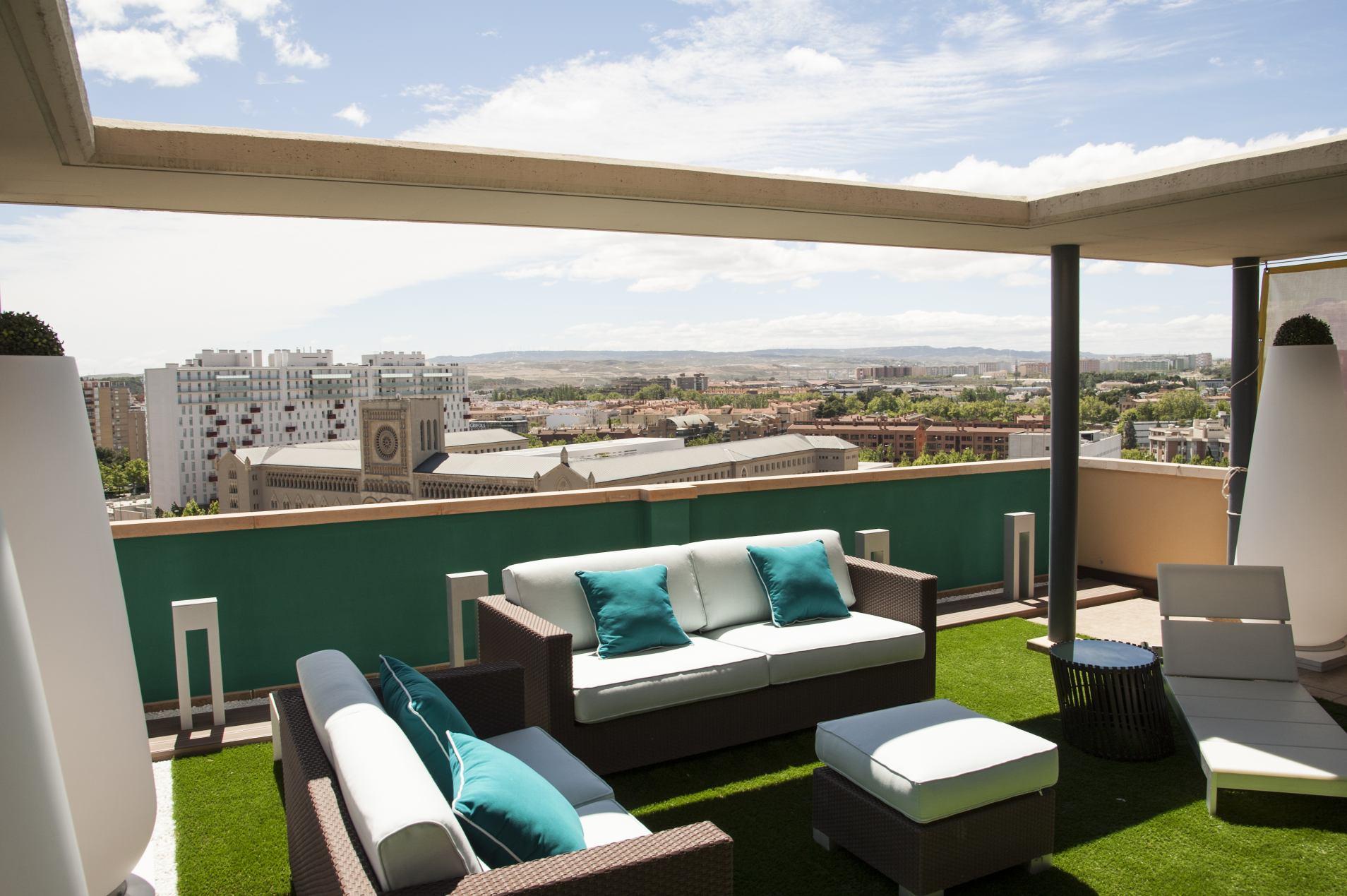 Las vistas el principal atractivo de tu tico ebrosa promotora inmobiliaria - Pergola terraza atico ...