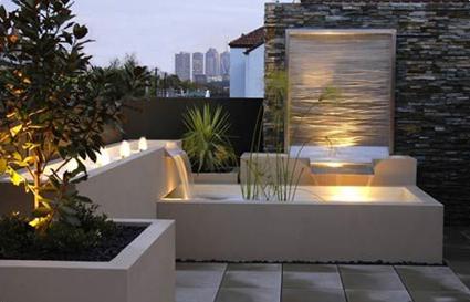 M s que un rastro de agua en la terraza ebrosa promotora - Fuentes para terrazas ...